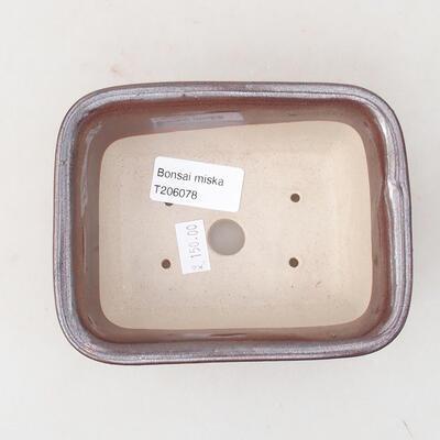 Keramische Bonsai-Schale 13 x 10 x 5 cm, braune Farbe - 3