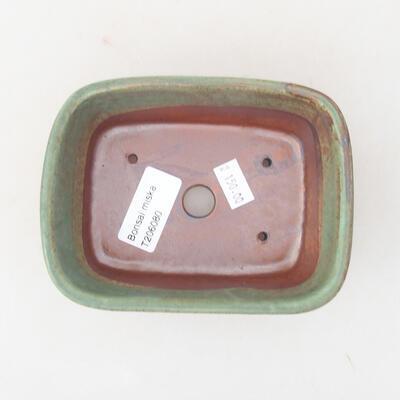 Keramische Bonsai-Schale 13 x 10 x 5,5 cm, Farbe grün - 3