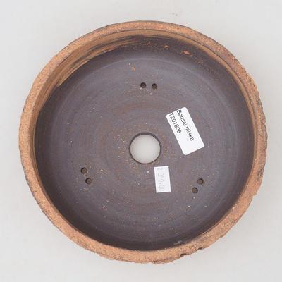 Keramische Bonsai-Schale 18 x 18 x 6 cm, Farbe rissig - 3