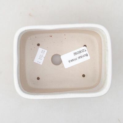 Keramische Bonsai-Schale 13 x 10 x 5,5 cm, weiße Farbe - 3