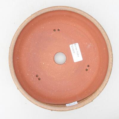 Keramische Bonsai-Schale 19 x 19 x 5,5 cm, braune Farbe - 3