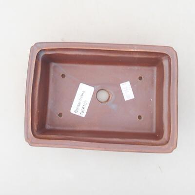 Keramische Bonsai-Schale 16,5 x 11 x 5 cm, Metallfarbe - 3