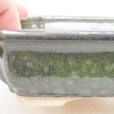 Keramische Bonsai-Schale 17 x 13 x 4,5 cm, Farbe grün - 3