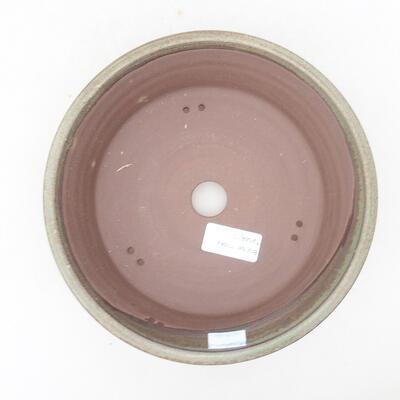 Keramische Bonsai-Schale 19,5 x 19,5 x 6 cm, Farbe grün - 3