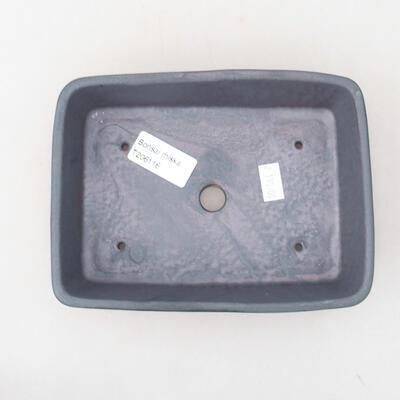 Keramische Bonsai-Schale 17 x 13 x 4,5 cm, Metallfarbe - 3