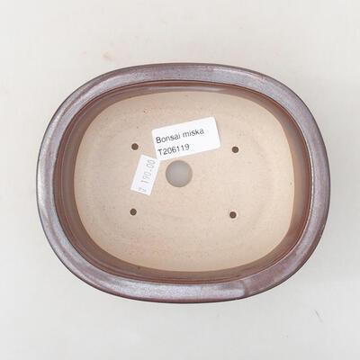 Keramische Bonsai-Schale 14 x 11 x 5 cm, Farbe braun - 3