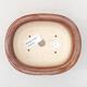 Keramische Bonsai-Schale 14 x 11 x 5 cm, Farbe braun - 3/3