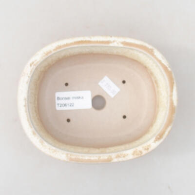Keramische Bonsai-Schale 14 x 11 x 5 cm, beige Farbe - 3