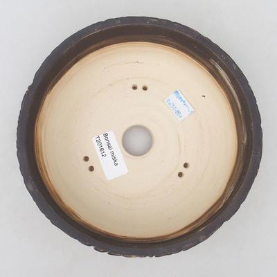 Keramische Bonsai-Schale 17 x 17 x 5,5 cm, rissige Farbe - 3