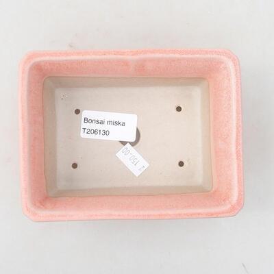 Keramik Bonsai Schüssel 13 x 10 x 5 cm, Farbe rosa - 3
