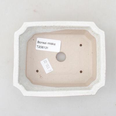 Keramische Bonsai-Schale 12,5 x 10 x 4 cm, weiße Farbe - 3