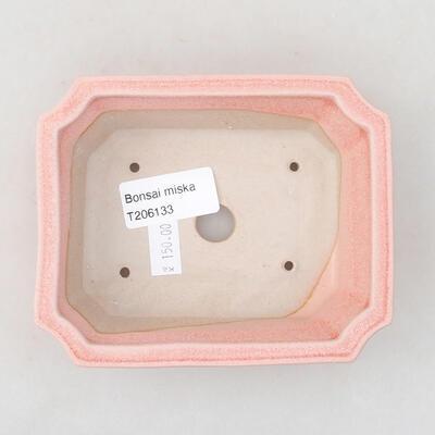 Keramische Bonsai-Schale 12,5 x 10 x 4 cm, Farbe rosa - 3