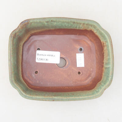 Keramische Bonsai-Schale 15 x 12 x 4 cm, Farbe grün - 3