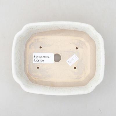 Keramische Bonsai-Schale 15 x 12 x 4 cm, beige Farbe - 3