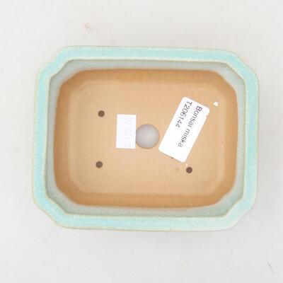 Keramische Bonsai-Schale 12 x 9,5 x 4 cm, Farbe grün - 3