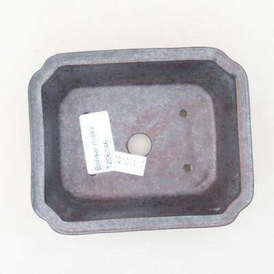 Keramische Bonsai-Schale 12 x 9,5 x 4 cm, Metallfarbe - 3