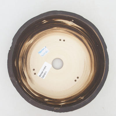 Keramische Bonsai-Schale 20,5 x 20,5 x 7,5 cm, Farbe rissig - 3