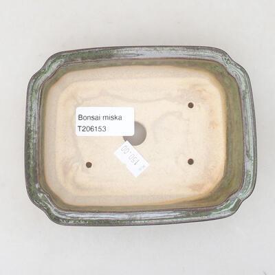 Keramische Bonsai-Schale 13 x 9,5 x 3,5 cm, Farbe grün - 3