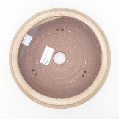 Keramische Bonsai-Schale 17,5 x 17,5 x 6 cm, braune Farbe - 3