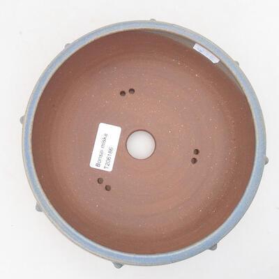 Keramische Bonsai-Schale 17 x 17 x 7 cm, Farbe blau - 3