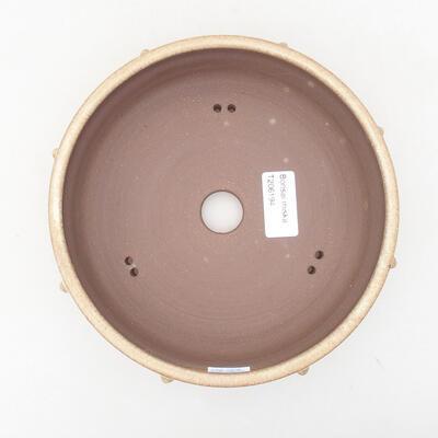 Keramische Bonsai-Schale 18 x 18 x 5,5 cm, beige Farbe - 3