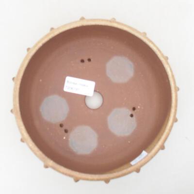 Keramische Bonsai-Schale 18 x 18 x 6,5 cm, beige Farbe - 3