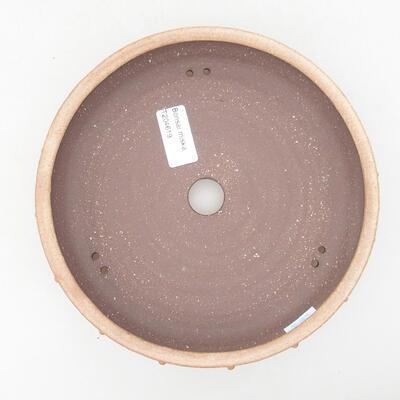 Keramische Bonsai-Schale 19,5 x 19,5 x 4,5 cm, beige Farbe - 3