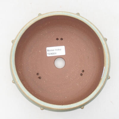 Keramische Bonsai-Schale 17 x 17 x 7 cm, Farbe grün - 3