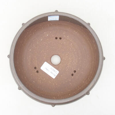 Keramische Bonsai-Schale 17 x 17 x 7 cm, Farbe grau - 3
