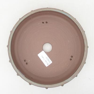 Keramische Bonsai-Schale 18 x 18 x 4,5 cm, graue Farbe - 3
