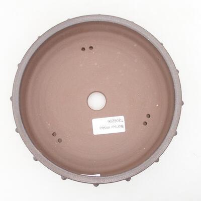 Keramische Bonsai-Schale 18 x 18 x 4,5 cm, braune Farbe - 3