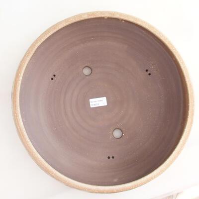 Keramische Bonsai-Schale 36,5 x 36,5 x 9,5 cm, beige Farbe - 3