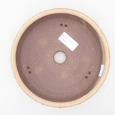 Keramische Bonsai-Schale 17 x 17 x 4,5 cm, beige Farbe - 3