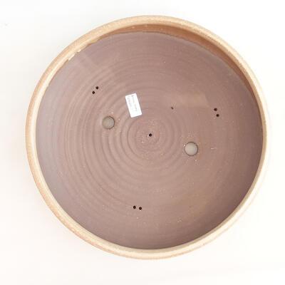 Keramische Bonsai-Schale 37,5 x 37,5 x 9 cm, beige Farbe - 3