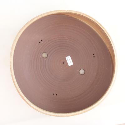 Bonsai-Keramikschale 37 x 37 x 12,5 cm, beige Farbe - 3