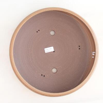 Keramische Bonsai-Schale 34 x 34 x 8,5 cm, braune Farbe - 3
