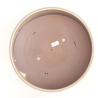 Keramische Bonsai-Schale 37 x 37 x 10 cm, Farbe braun - 3