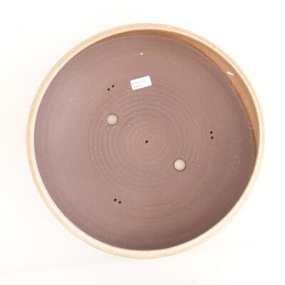 Keramische Bonsai-Schale 39 x 39 x 11 cm, Farbe beige - 3