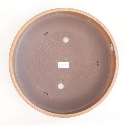 Keramische Bonsai-Schale 33,5 x 33,5 x 8 cm, beige Farbe - 3