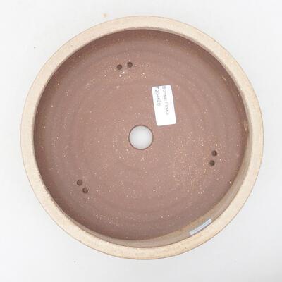 Keramik Bonsai Schüssel 20 x 20 x 6 cm, beige Farbe - 3