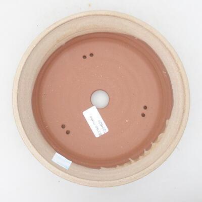 Keramische Bonsai-Schale 20,5 x 20,5 x 5,5 cm, beige Farbe - 3