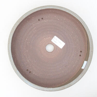 Keramische Bonsai-Schale 22 x 22 x 5 cm, Farbe grau - 3