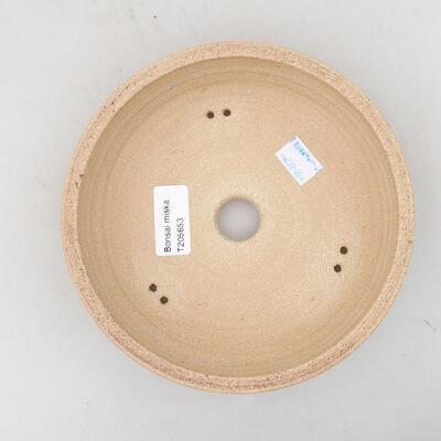 Keramische Bonsai-Schale 21 x 21 x 6 cm, Farbe braun - 3