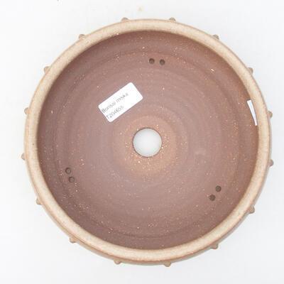 Keramische Bonsai-Schale 19 x 19 x 5,5 cm, beige Farbe - 3