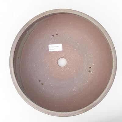 Keramische Bonsai-Schale 25 x 25 x 8 cm, Farbe grau - 3