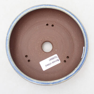 Bonsaischale aus Keramik 14,5 x 14,5 x 5 cm, Farbe blau - 3
