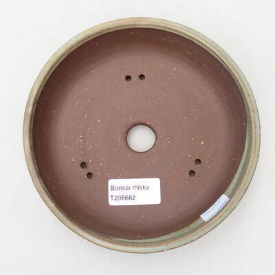Bonsaischale aus Keramik 16 x 16 x 4,5 cm, Farbe grün - 3