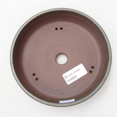 Bonsaischale aus Keramik 15 x 15 x 4 cm, Farbe grün - 3