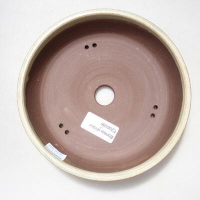 Bonsaischale aus Keramik 17 x 17 x 4 cm, Farbe beige - 3