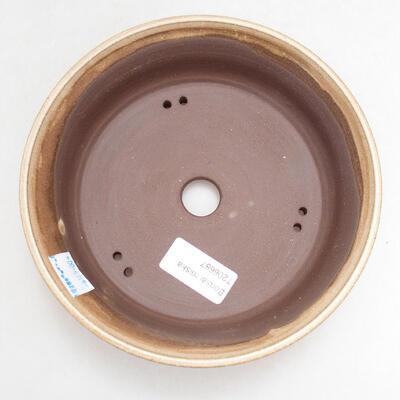 Bonsaischale aus Keramik 17 x 17 x 5 cm, Farbe beige - 3